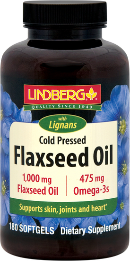 Olej lniany z lignanami 180 Tabletki żelowe