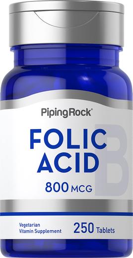 Ácido fólico , 800 mcg, 250 Comprimidos