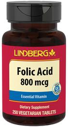 Folic Acid 800 mcg, 250 Tabs