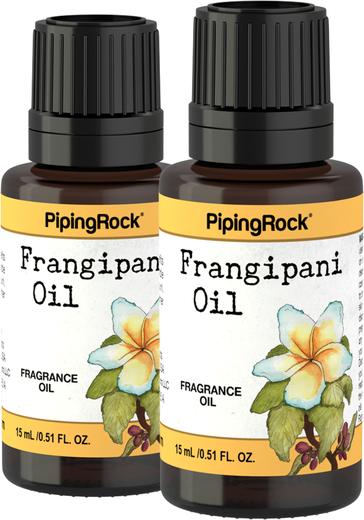 Óleo perfumado de frangipani, 1/2 fl oz (15 mL) Frasco conta-gotas, 2  Frascos conta-gotas
