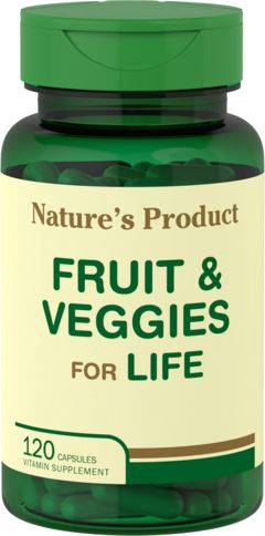 Fruta e vegetais para a vida 120 Cápsulas