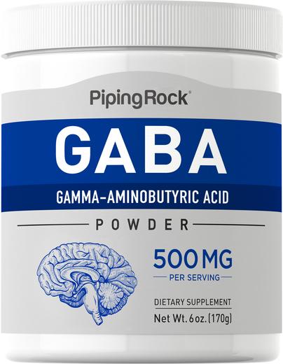 Pó GABA (ácido gama-aminobutírico), 6 oz (170 g) Frasco
