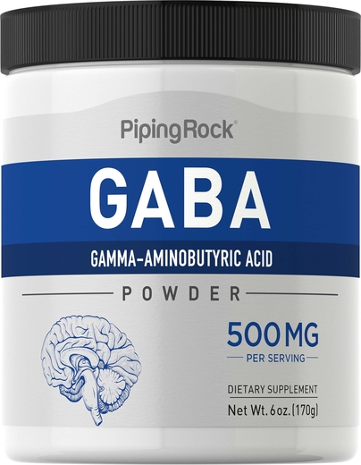 Buy GABA Powder (Gamma-Aminobutyric Acid) 6 oz. (170 g) Bottle