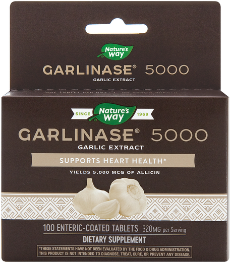 Garlinase 5000 Garlic Extract, 100 Tablets