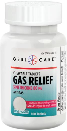 Ulga przy wzdęciach 80 mg, do żucia 100 Tabletki do żucia