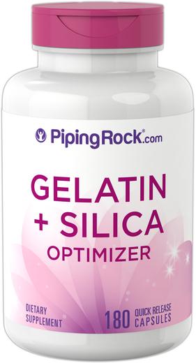 Gelatin Plus Silicon 180 Capsules