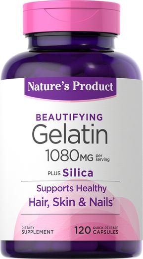 Gelatin Plus Silica 1,080 mg (per serving), 120 Capsules