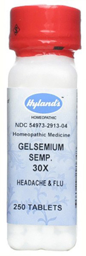 Gelsemium Sempervire 30xHomeo Dor de Cabeça e Gripe, 250 Comprimidos