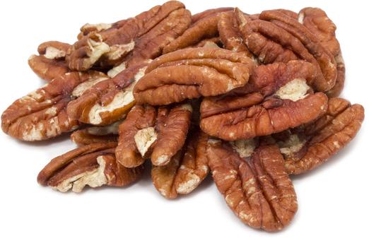 Jumbo-pekannøtter fra Georgia - rå og uten skall 1 lb (454 g) Pose