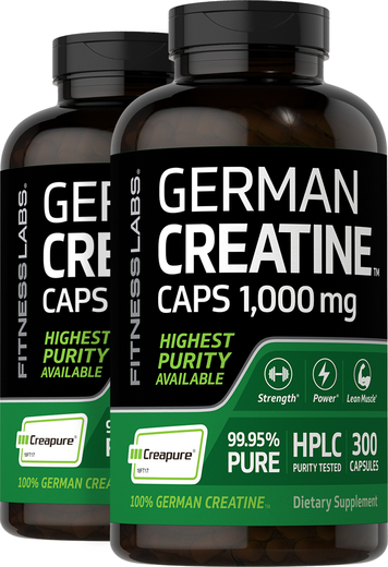 German Creatine Monohydrate (Creapure), 1000 mg, 300 Capsules