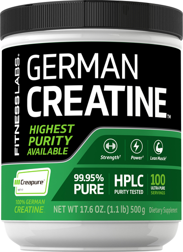 Niemiecka Monohydrat kretyny (Creapure) 1.1 lb (500 g) Butelka