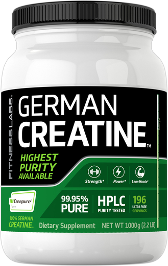 Niemiecka Monohydrat kretyny (Creapure) 2.2 lb (1000 g) Butelka