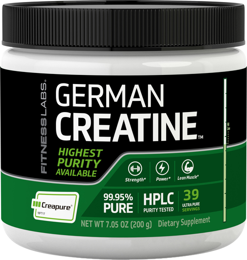 Niemiecka Monohydrat kretyny (Creapure) 7.05 oz (200 g) Butelka