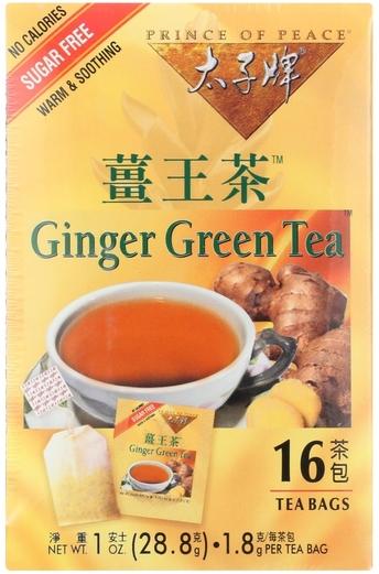 Imbirowa zielona herbata 16 Torebki do herbaty