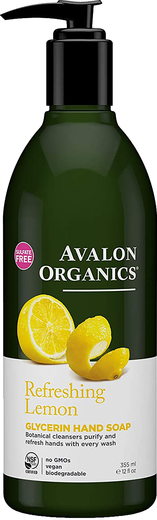 Sabonete para as mãos de glicerina e limão, 12 fl oz (355 mL) Frasco doseador