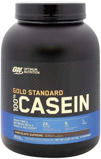 Gold Standard 100% Białko kazeinowe w proszku (czekolada Supreme) 4 lb (1.81 kg) Butelka