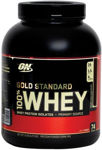 Gold Standard 100% Białko serwatkowe w proszku (podwójna czekolada) 5 lb (2.27 kg) Butelka