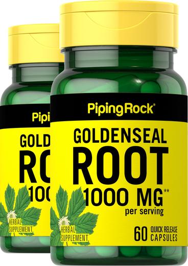 Goldenseal Root 1,000 mg (per serving) 2 Bottles x 60 Capsules