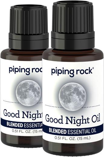 Good Night Essential Oil 2 Dropper Bottles x 1/2 oz (15 ml)