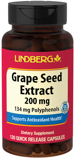 Grape Seed Extract 200 mg, 120 Capsules