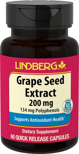 Grape Seed Extract 200 mg, 60 Capsules