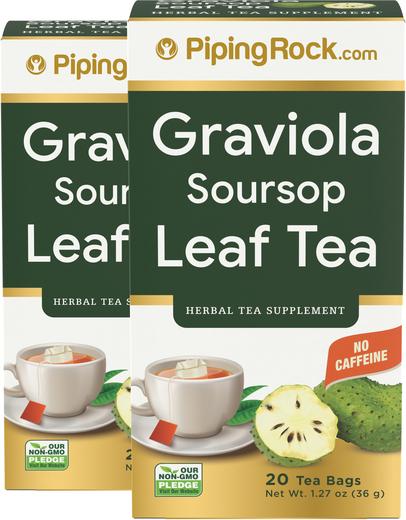 Graviola (Soursop) Tea, 20 Tea Bags x 2 Boxes
