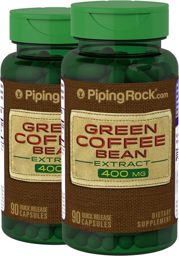 Green Coffee Bean 400 mg 50% Chlorogenic Acid 2 x 90 Capsules