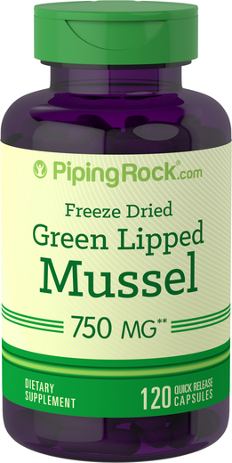 Green Lipped Mussel Supplement 2 x 500 mg Freeze Dried from New Zealand Capsules