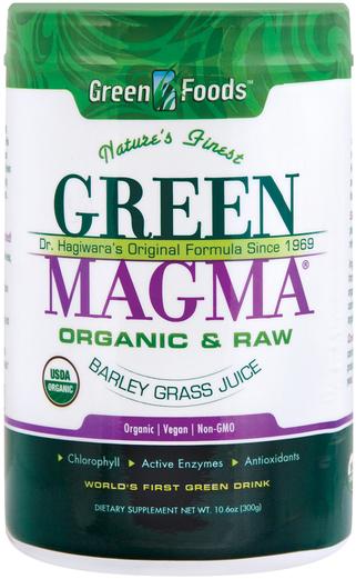 Sok ze źdźbła jęczmienia w proszku Green Magma (organiczny) 10.6 oz (300 g) Butelka