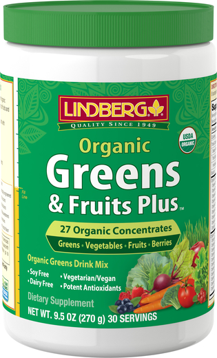 Warzywa zielone i owoce Plus Organic 9.5 oz (270 g) Butelka
