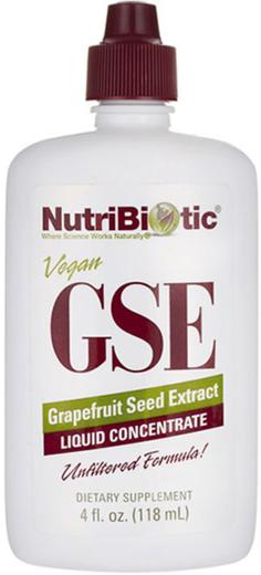 Extrato líquido de sementes de toranja GSE, 4 fl oz (118 mL) Frasco conta-gotas