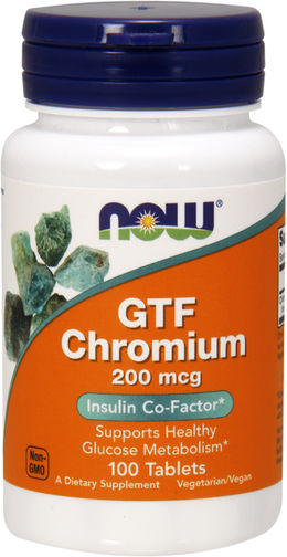 GTF Chromium, 200 mcg, 100 Tablets