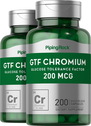 Buy GTF Chromium 200 mcg 200 Capsules