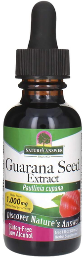 Guarana Seed Liquid Extract 1 fl oz (30 mL) Dropper Bottle