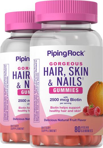Hair, Skin & Nails Gummies 2 Bottles x 80 Gummies