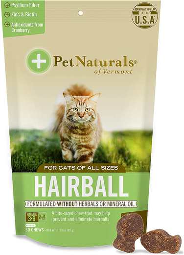 Hairball Relief for Cats (Chicken Flavored Chews) 45 Count