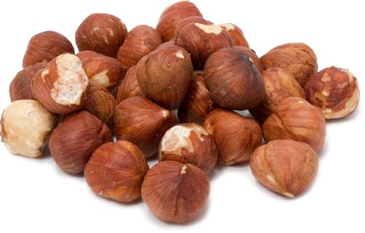 Hasselnøtter - hele og rå (hasselbusk) - med skall 1 lb (454 g) Pose