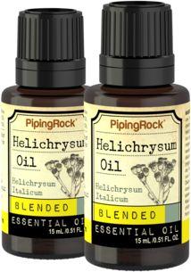 Helichrysum Essential Oil Blend 2 Dropper Bottles x 1/2 fl oz (15 ml)