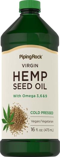 Olej z nasion konopi (tłoczony na zimno) 16 fl oz (473 mL) Butelka