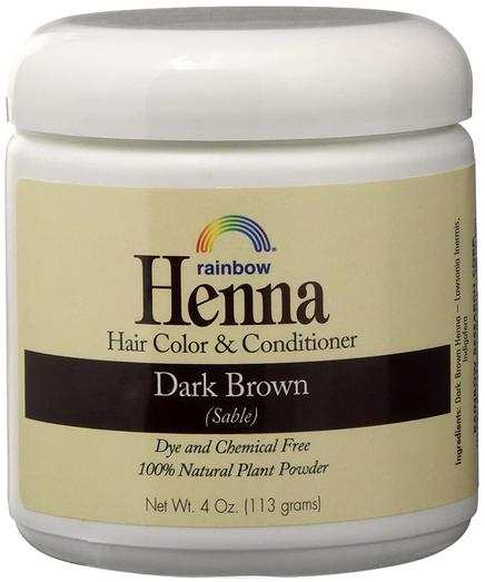 ヘナ ペルシャ ダーク ブラウン (セーブル) ヘア カラー & コンディショナー 4 oz (113 g) ビン