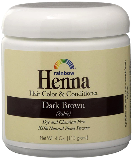 Rainbow Henna Persian Dark Brown Hair Color & Conditioner 4 oz (113 g) Jar