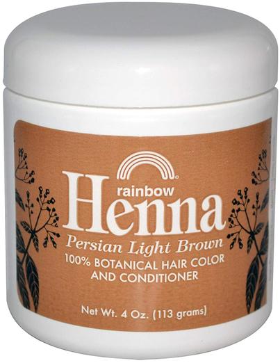 Corante para o cabelo e condicionador castanho claro Henna persa, 4 oz (113 g) Boião