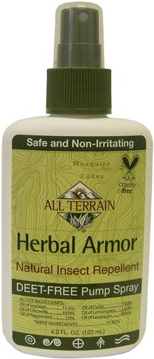 Spray Repelente de Insetos Herbal Armor, 4 oz (113 g) Frasco