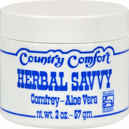 Herbal Savvy Comfrey Aloe Vera Cream 2 oz (57 g) Jar