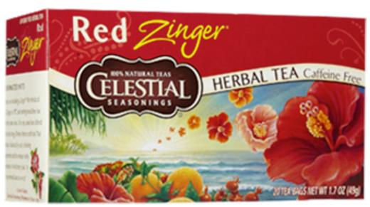 Herbal Tea Caffeine Free Red Zinger Tea 20 Tea Bags