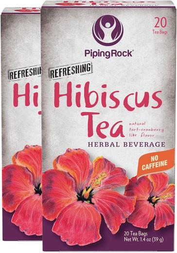 Chá de hibisco biológico, 20 Saquetas de chá, 2  Caixas