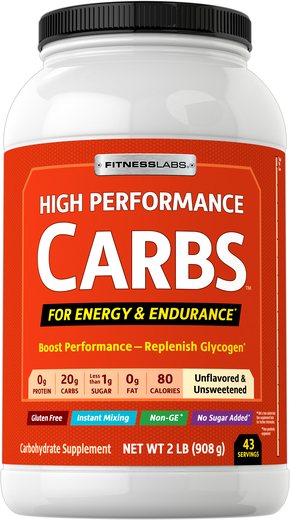 High Performance Carbs Unflavored, 2 lb