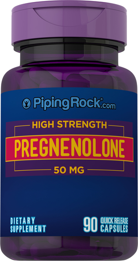 High Strength Pregnenolone 50mg, 90 Capsules