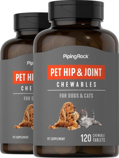 Masticables para caderas y articulaciones de perros y gatos 120 Tabletas masticables