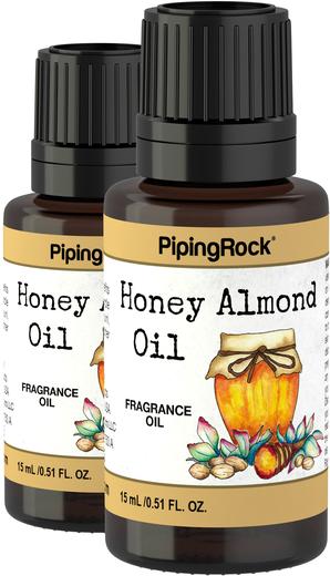 Huile parfumée miel amande 1/2 fl oz (15 mL) Compte-gouttes en verre